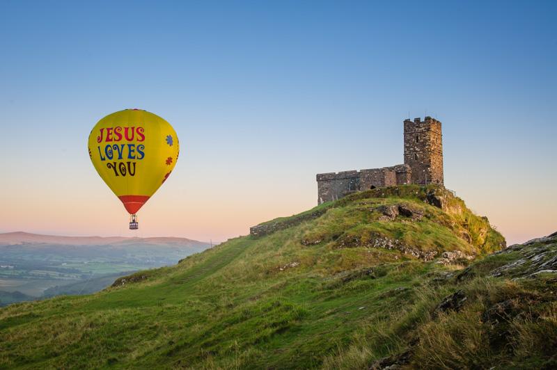 Brentor church Balloon