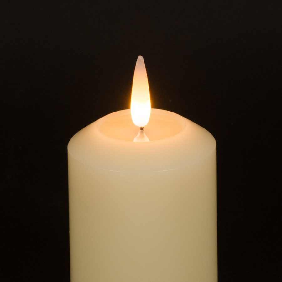 Candled website photography realistic flame